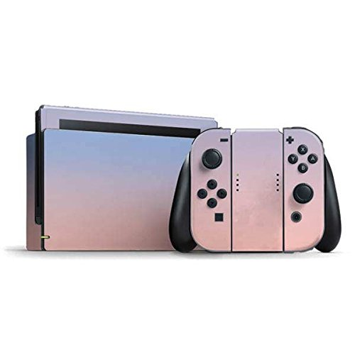 Solids Nintendo Switch Bundle Skin - Rose Quartz & Serenity Ombre Vinyl Decal Skin For Your Switch ()