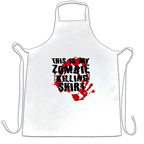 AshasdS This is My Zombie Killing Chefs Apron Halloween Slogan Concise Style for Women Men Barber Apron