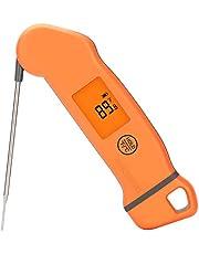Inkbird Professioneel Digitale Vleesthermometer IHT-1S, Waterbestendige BBQ Thermometer met Draaibaar Scherm en Backlight Display voor Grill, Roker, Keuken, Oven en Bakken (2-3s)