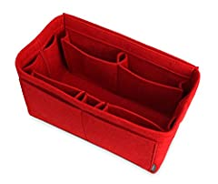 LIGHTWEIGHT, STYLISH & DURABLE: Made of high-quality, 100% polyester felt. This soft and stylish felt organizer will add volume to your tote or handbag, helping it keep its shape whilst protecting your delicate essentials like glasses, sm...