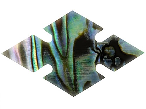 Incudo Precision IP001912 8mm Abalone Notched Diamond Inlays - Green (Pack of 20)