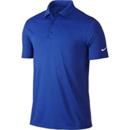 Nike Mens dry Victory Polo, Game Royal/White, Large
