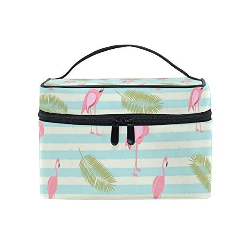 Simple Green Yard Flamingos Christmas Gift Retro Cosmetic Bag Light And Easy To Carry Cosmetic Bag Lady Cosmetic Bag Cosmetic Bag Travel Storage Bag