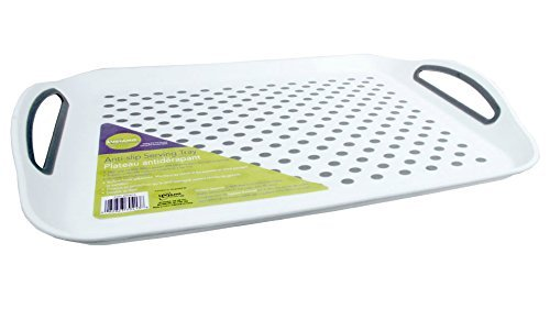 Rectangular Anti Slip Tray, Non-slip Serving Tray (Dinner Tray Non Skid)