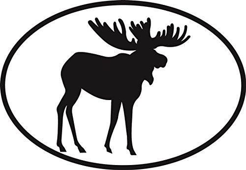 Moose Euro Oval Bumper Sticker