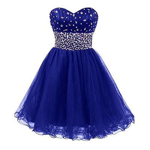 Donna Corto A Blue Royal Per Tubino Dimensione colore Us20 Abito Fengbingl XCn5qq