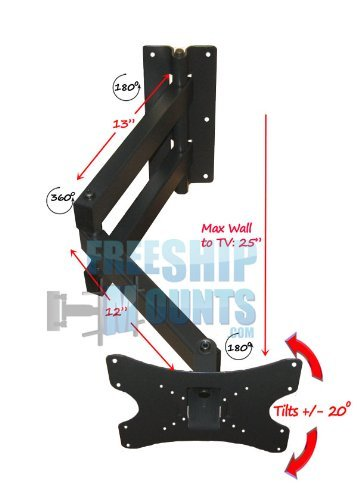 Extra Long Arm Full Motion Mount for Tv Screen Sizes 19-42' Can Be Used For Corner
