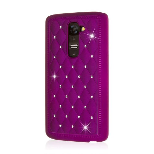 LG G2 Purple Case, EMPIRE GLITZ Slim-Fit Case for LG G2 - Bling Accent Purple (1 Year Manufacturer Warranty) (Not Compatible with Verizon / International Model) (Verizon Lg G2 Bling Case)