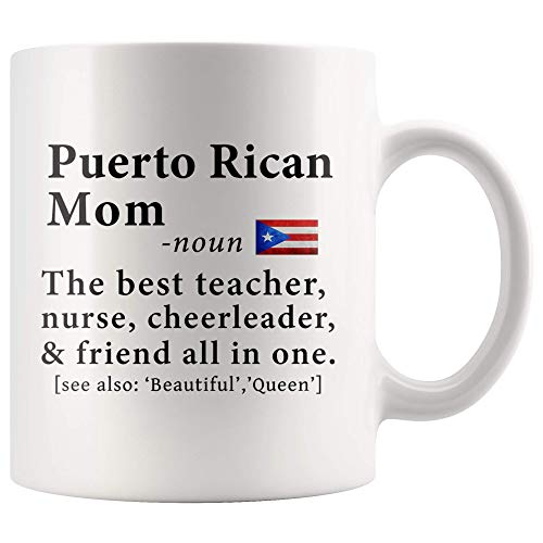 Puerto Rican Mom Definition Puerto Rico Flag Mothers Day - 11oz White Mug family reunion gifts Gift Idea ()
