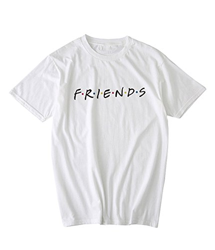 Qrupoad Friends TV Show T Shirts Womens Summer Loose Short Sleeve Graphic Shirt Tees Tops(FBA) (Tv Woman)