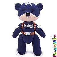 "Captain America bear ""Stealth suit"" - marvel superhero movie comic plush toy avengers steve rogers"