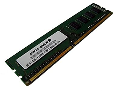 HP 8GB 1x8GB Dual Rank x8 PC3L-12800E DDR3-1600 Unbuffered CAS-11 Low Voltage Memory for HP ProLiant ML310e Gen8 v2 (G8) (PARTS-QUICK BRAND)