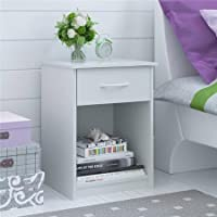 Mainstays Nightstand/End Table, Made of composite wood, White