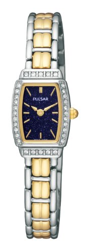 Pulsar Women's PEGE59 Crystal Blue Gold-Stone Dial Watch