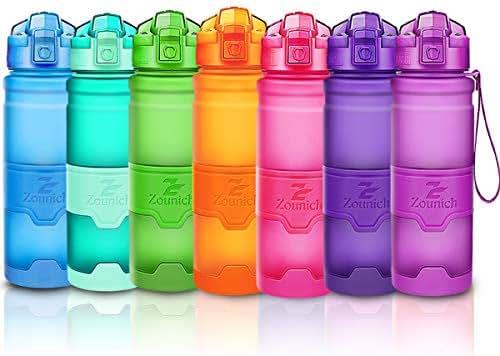 Premium Sports Water Bottle 32 oz/1 liter, 24 oz, 16 oz, 14 oz, BPA Free Tritan for Kids, Reusable & Leak proof & Measured, Plastic Drink Bottle, for Bike, Running, Gym, Fitness, Cycling (A style)