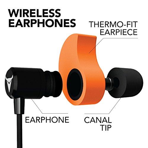Decibullz - Custom-Fit Bluetooth Wireless Headphones, The First Custom Molded Wireless/Bluetooth Earphones (Orange) by Decibullz (Image #2)