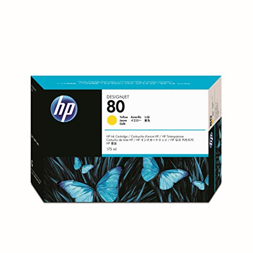 HP 80 (C4873A) Yellow DesignJet Ink Cartridge by HP