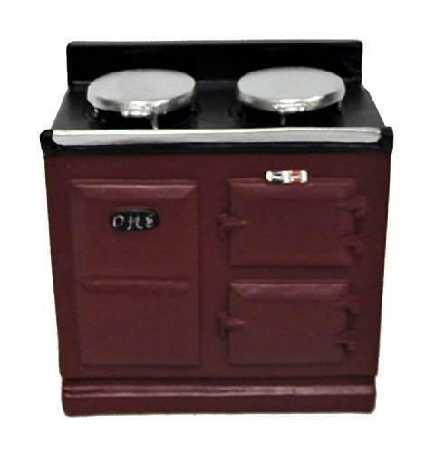 Aga Cookers - Melody Jane Dollhouse 2 Oven Red Aga Stove Cooker Miniature Kitchen Furniture