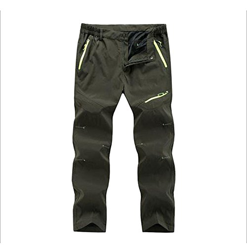 (LOG SWIT Mens Quick Dry Long Pants Men Breathable Joggers Trousers Male Durable Casual Clothing Army Green XXXL)