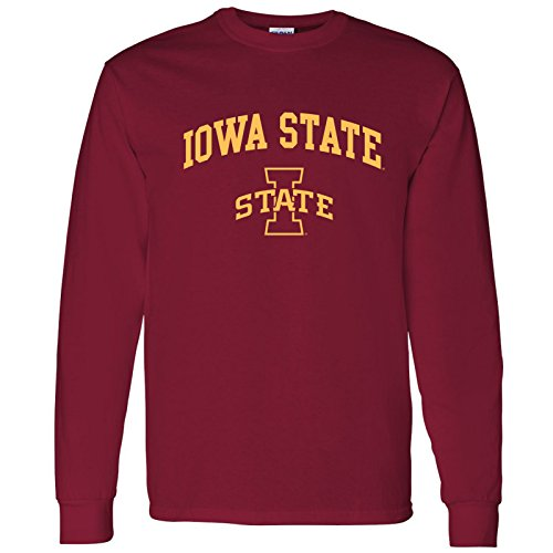 (UGP Campus Apparel AL03 - Iowa State Cyclones Arch Logo Long Sleeve - Small - Cardinal Red)
