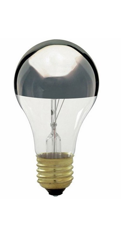 Satco S3955 60W A19 Incandescent, Silver Crown (Pack Of 8) by Satco