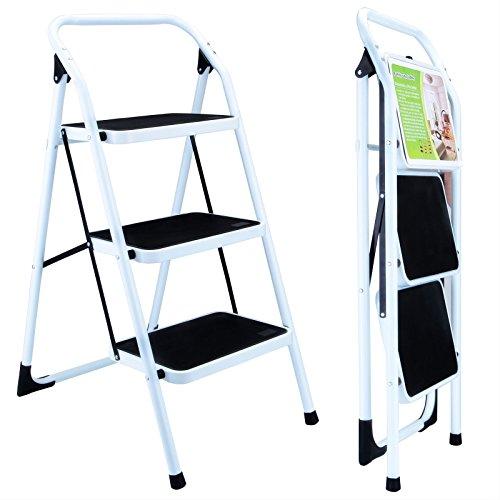 Ladder Folding Aluminum Step Multi Purpose Heavy Duty Extendable 3 Platform Extension Non Slip - Glasses Saskatoon