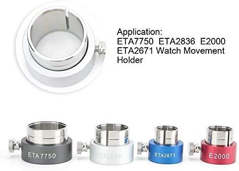 4pcs strumenti di riparazione dell\'orologio professionale supporto del movimento dell\'orologio in metallo per ETA7750 ETA2836 E2000 ETA2671 movimento dell\'orologio