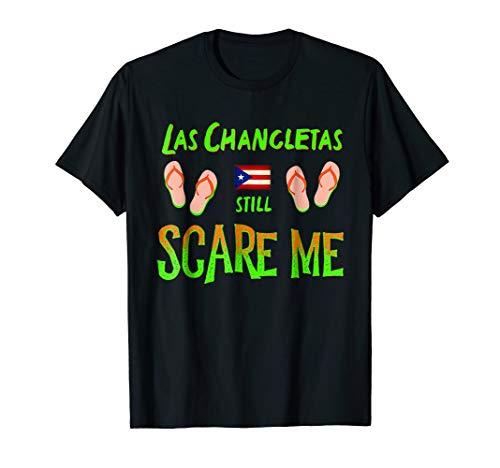 Hispanic Halloween Costume T-shirt Chancletas Raised Me