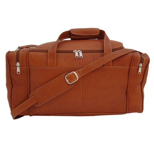 Piel Leather Small Duffel Bag, Saddle, One Size
