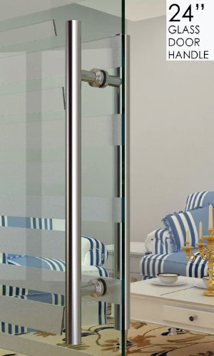 dh - 16'' Ladder Style Pull Shower Handle - Glass or Wood Door Stainless Steel 304 Modern Contemporary by www.LuxuryModernHome.com (Image #1)