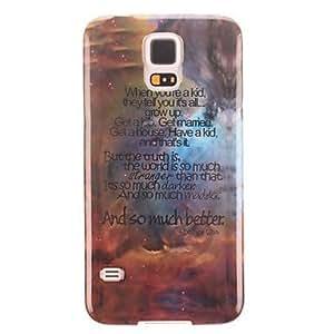 TY-Inglés Diseño TPU cubierta suave de protección para el Samsung Galaxy i9600 S5