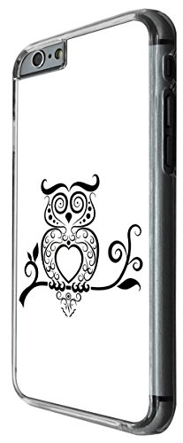 1013 - Cool fun cute owl pet nature birds aztec Design For iphone 6 Plus / iphone 6 Plus S 5.5'' Fashion Trend CASE Back COVER Plastic&Thin Metal -Clear