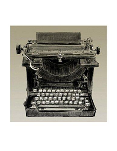 Clifford Faust – Máquina de escribir Vintage Artistica di Stampa (27,94 x 22