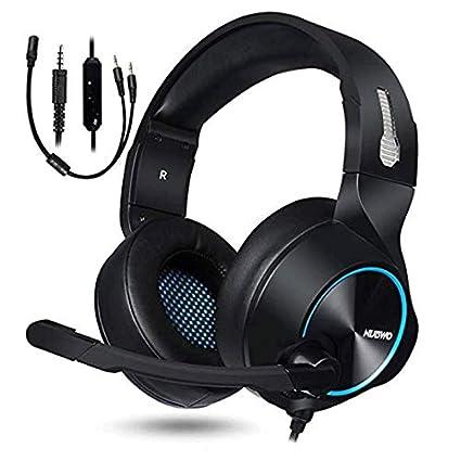 HUANGDA Gaming Headset, PS4 Xbox One Headset, Auriculares estéreo para PC Auriculares con reducción