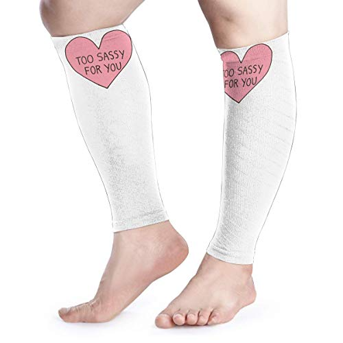 Calf Compression Sleeve for Men & Women, Premium Leg Compression Socks for Shin Splints and Varicose Veins, Elastic Footless Sleeve for Running, Cycling, Travel & Recovery, Too Sassy
