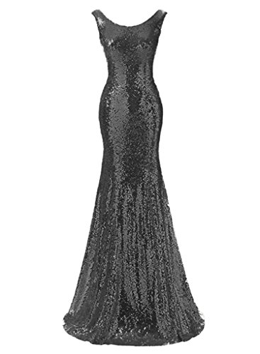 Ysmo Womens Scalloped Sequin Prom Dresses Mermaid Evening Gown Long 2017