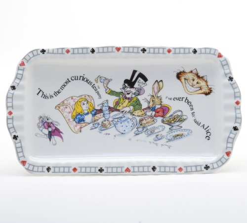 Alice In Wonderland Cookie Tray Cake Plate by Paul Cardew Retired Pattern