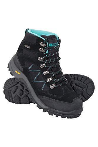 Mountain Walking Boots - Mountain Warehouse Storm Womens Waterproof Boots -Ladies Walking Shoe Black 8 M US Women