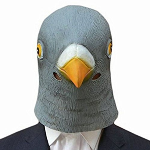 Pictures Of Weird Halloween Costumes (New Pigeon Mask Latex Giant Bird Head Halloween Cosplay Costume Theater)