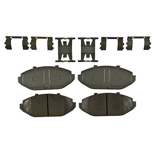 Wagner ThermoQuiet QC748 Ceramic Disc Pad Set With Installation Hardware, - Brake Front Victoria Pads Crown