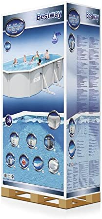 Best Way 1571260031 - piscina oval hydrium 610x36 cm: Amazon.es ...