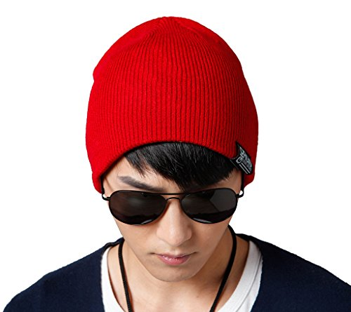 CozyRoom Unisex Thicken Two Layer Stretch Cotton Knit Cap Slouchy Beanie Hat (Costume Capitan America Woman compare prices)