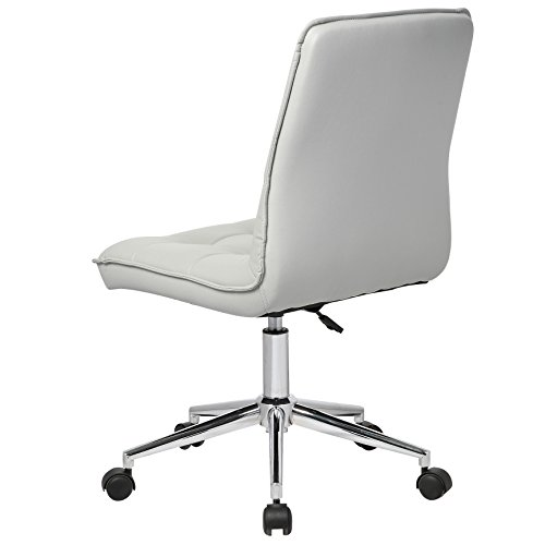 Porthos Home Leona Office Chair Unique Luxury Home Office Chairs, Height Adjustable, 360-degree Swivel, Easy Glide Caster Wheels, Ultra-Thick Padding Size; 24 x 20 x 39 inch