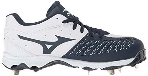 Mizuno Frauen 9-Spike Advanced Sweep 3 Softball Schuh Weiß-Marine
