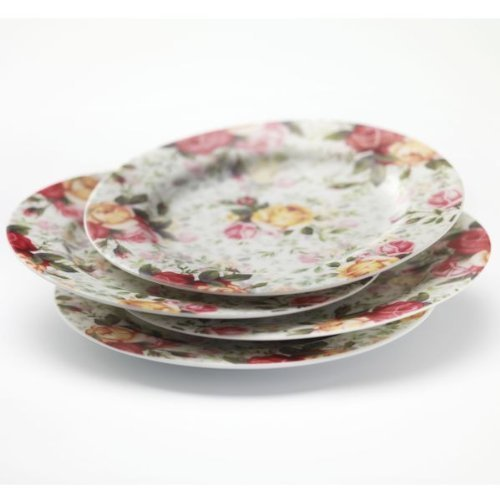 Royal Albert Country Rose Chintz S/4 Dessert Plates by by Royal Doulton