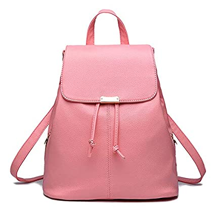 Redlicchi Women Babypink Leather Backpack Purse Satchel School Bags Casual  Travel Daypacks for Girls  Amazon.in  Bags f084fd0dbe1f3