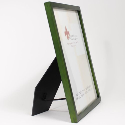 Lawrence Frames Collection Wood Certificate Picture Frame Gallery, 8.5 by 11-Inch, Green by Lawrence Frames (Image #2)