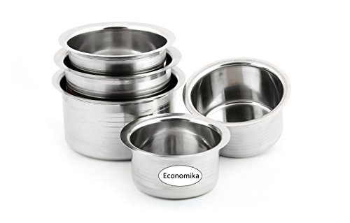 Ekonomica Tope Cookware Set of - 5 Topes (Capacity 500 ml , 750 ml , 1000 ml , 1500 ml , 2000 ml)