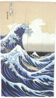 Japanese Noren Great Wave 32 x 59