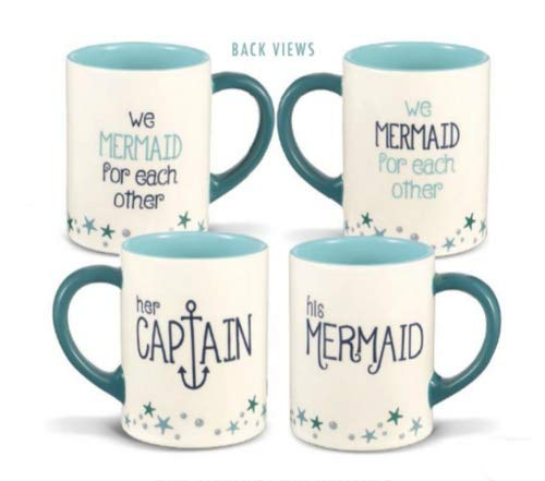 (Grasslands Road Her Captain and His Mermaid Mugs - Set of)